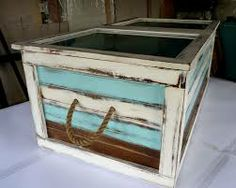this is a coffee/shadow box table that i built using an antique