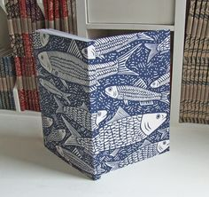 Fish linocut Journal, recycled £12.50