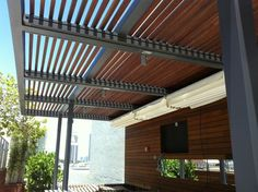 wood pergolas with retractable canopy | Retractable Roof Systems | Canopy Pergola | ShadeFla