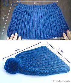 Easy Crochet Hat Patterns, Crochet Beanie Pattern, Knitting Patterns, Loom Knitting, Baby Knitting, Crochet Baby, Knit Crochet, Crochet Winter, Knit Beanie