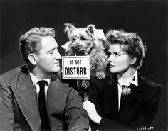 Katherine Hepburn & Spencer Tracy & dog