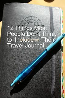 The Scarlett Chronicles: 12 Things Most People Don't Think to Include in Their T. - The Scarlett Chronicles: 12 Things Most People Don't Think to Include in Their Travel Journal Journal Inspiration, Travel Inspiration, Journal Ideas, Bujo, Travel Destinations, Travel Tips, Travel Books, Best Travel Journals, Travel Journal Pages