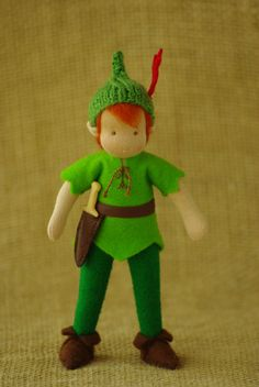 Peter Pan Waldorf doll boy // gift for boy by TaleWorld on Etsy