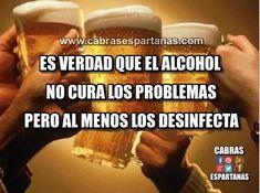 Alcohol y problemas al menos se desinfectan