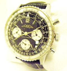 BREITLING SWISS VINTAGE NAVITIMER 1960s CHRONOGRAPH MECHANICAL HAND-WIND WATCH