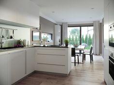 Offene Küche mit Theke und Kochinsel - Einrichtungsidee Haus Concept-M 198 Bien Zenker - HausbauDirekt.de