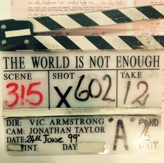 007 Worlds Not Enough clip board