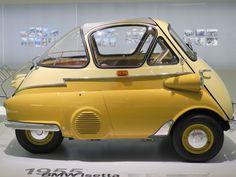 Microcar, Carros Lamborghini, Automobile, Bmw Isetta, Auto Retro, Yellow Car, Weird Cars, Unique Cars, Cute Cars