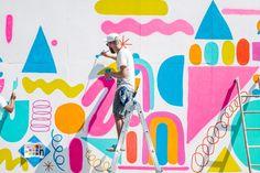 Mural wall art – wall space brooklyn artists think big with … – Graffiti World Murals Street Art, Mural Wall Art, Mural Painting, Art Paintings, Graffiti Wall, Brooklyn, Instalation Art, Wallpaper Magazine, Wallpaper Art