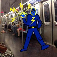 Check out this fine fella on the subway!