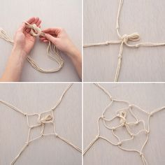 These Boho Chic Hanging Macrame Vases Make These Boho Chic Hanging Macrame Vases via Brit + Co.Make These Boho Chic Hanging Macrame Vases via Brit + Co. Crafts For Teens To Make, Diy Arts And Crafts, Cute Crafts, Crafts To Sell, Diy Crafts, Stick Crafts, Sell Diy, Beach Crafts, Boho Chic Interior