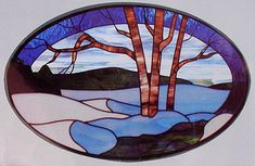 HarmonyGlass.com Stained Glass Pattern CKE-32 Winter