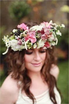 floral halo wreath