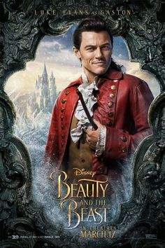 Disney release new motion and characters posters for its live-action Beauty and the Beast, ahead of the final trailer's release online. Luke Evans as Gaston Belle Disney, Walt Disney, Disney Films, Disney Villains, Disney Magic, Disney Live, Beauty Beast 2017, Beauty And The Beast Movie, Dan Stevens