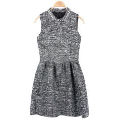 Gray Diamond Sleeveless Puff Dress$57.00 ($57) ❤ liked on Polyvore