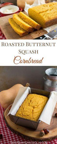 Roasted Butternut Squash Cornbread | thecinnamonscrolls.com @cinnamonscribe