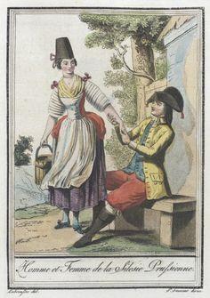 Costumes de Différents Pays, 'Homme et Femme de la Silesie Prussienne' | LACMA Collections