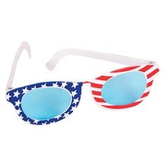 Privateislandparty.com - Child Patriotic Star Sunglasses $1.50 A bright idea for sporting the American flag! Children all over love to show off their patriotic spirit on the Fourth of July with these plastic sunglasses! You can also Patriotic Star Sunglasses to your friends children at your next beach party! Youth size : 5 inches measures across. Fits up to most kids to age 10.