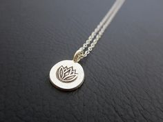 Lotus Necklace lotus Jewelry sterling silver lotus by Lotus411, $28.00