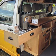 The Joy Of Having A Camping Camper RV On A Camping Trip - family camping site Interior Trailer, Van Interior, T4 Camper Interior Ideas, Volkswagen Bus Interior, Kombi Interior, Interior Design, Airstream Interior, Van Conversion Interior, Camper Van Conversion Diy