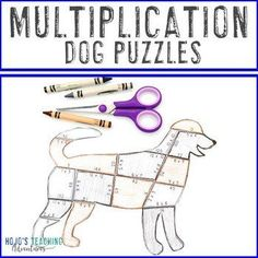 MULTIPLICATION Dog Puzzle | Fire Safety Week | Make a Dalmation Activity Craft | 3rd, 4th, 5th grade, Activities, Basic Operations, Games, Homeschool, Math, Math Centers, Mental Math 5th Grade Classroom, Classroom Themes, Math Math, Multiplication, Fire Safety Week, Reading Recovery, Ell Students, Dog Puzzles, Critical Thinking Skills