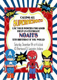 58 Best Superhero Party Invitations