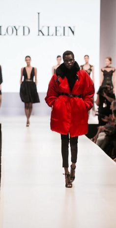 Lloyd Klein Fall Winter 2015/16 collection featuring Satin the Cherry Bomb from the runway held at El Paseo Fashion Week