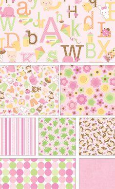 Sweet Baby Girl by Doodlebug Design Inc for Riley Blake Designs