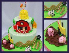 Barnyard cake- i like the tractor