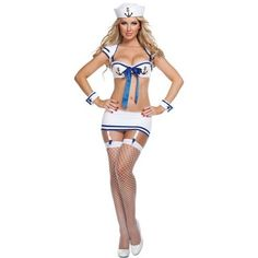 White Sexy Sailor Costume ($9.99) ❤ liked on Polyvore featuring costumes, white, sexy halloween costumes, sailor costume, sexy sailor halloween costume, sailor halloween costume and sexy costumes