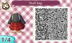 Furry homestuck trash - toottown:   Skull Bag  A tartan style skirt with a...