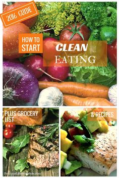 Learn how to start clean eating. And succeed. This guide guide was specially made to teach clean eating for beginners. In this guide you'll get clean eating recipes, clean eating grocery list, and clean eating meal plan.