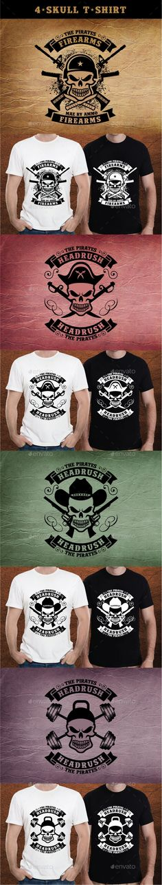 4-Skull T-Shirt Illustration #design Download: http://graphicriver.net/item/4skull-tshirt/12927587?ref=ksioks