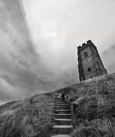 Glastonbury Tor. One school of thought believe this is where Arthur stabbed his sword into the ground and challenged his men to take it from him.  I know from my own walks on the hill that I have met half a dozen people who believed that they where the Second Coming.  They can't be all right . . . can they?  What magic whirls around this place?