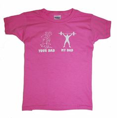 Crossfit KIDS My Dad shirt dark pink with white by TotallyTShirts, $12.99