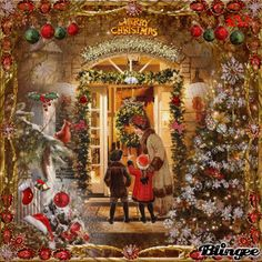 Vintage Christmas Scene - Looks just like the stories by Great Aunt tells us about sled rides on Christmas day. Description from pinterest.com. I searched for this on bing.com/images