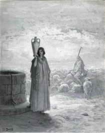 Jacob Keeping Laban's Flock - Gustave Dore