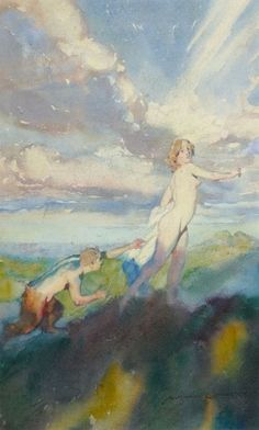 Norman Lindsay - Satyr and Nymph