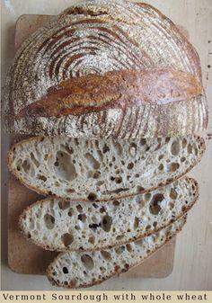 Vermont sourdough with Whole Wheat Pszenny zakwasowy z Vermont z dodatkiem mąki razowej