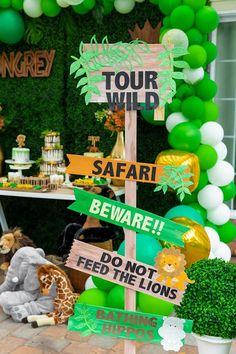 Wooden Safari Party Sign from a Safari Wild ONE Birthday Party at Kara& Party I . - Erster Geburtstag Wild One - Boys First Birthday Party Ideas, Wild One Birthday Party, 1st Boy Birthday, First Birthday Parties, First Birthdays, Birthday Themes For Boys, Birthday Photos, Birthday Gifts, Safari Birthday Cakes