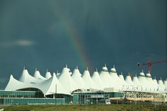 The great thing about spring storms in Colorado? They're often accompanied by beautiful rainbows.