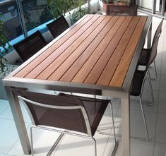 The Byron Style Table Top Features Slats Of Kwila Timber Within A Wider Kwila Frame Outdoor