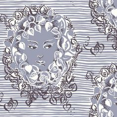 Ivy Faces fabric by Lana Mackinnon