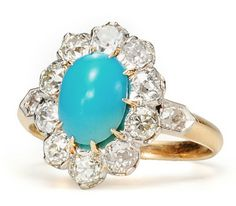 Images of 1920s Flash in a Turquoise Diamond Ring - The Three Graces