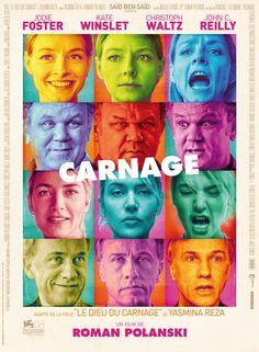 """Carnage / Los personajes eran interesantes, pero el argumento y guión no me entretuvieron demasiado y el formato """"teatral"""" de la obra me aburrió un poco / 4.5 Patos"""