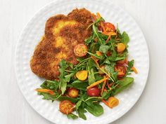 Get Sesame Pork Milanese Recipe from Food Network 30 Minute Dinners, Fast Dinners, Quick Meals, Weeknight Meals, Veal Milanese, Milanese Recipe, Pork Recipes, Cooking Recipes, Asian Recipes