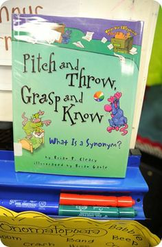 Great book to teach synonyms!