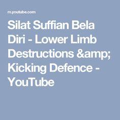 Silat Suffian Bela Diri - Lower Limb Destructions & Kicking Defence - YouTube