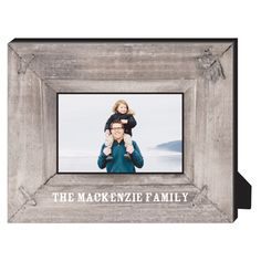Photo Real Wood Personalized Frame, - Photo insert, 8 x 10 Personalized Frame, Brown