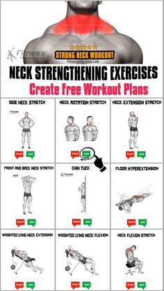 Neck Exercises, Neck Stretches, Neck Strengthening, Free Workout Plans, Body Rock, Neck Pain, Relaxation Exercises, Health Fitness, How To Plan